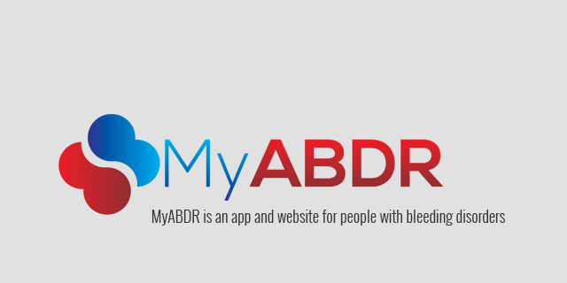 MyABDR is an app and website for people with bleeding disorders